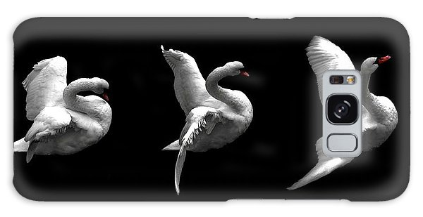 Majestic Swan Triptych Galaxy Case by Dale   Ford