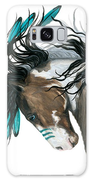 Feathers Galaxy Case - Majestic Turquoise Horse by AmyLyn Bihrle