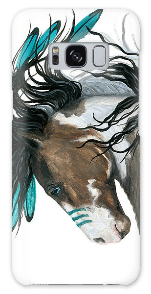 Native American Galaxy Case - Majestic Turquoise Horse by AmyLyn Bihrle