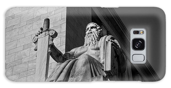 Majesty Of Law In Black And White Galaxy Case by Chrystal Mimbs