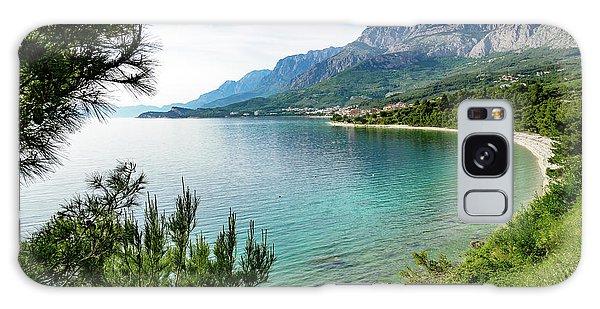 Makarska Riviera White Stone Beach, Dalmatian Coast, Croatia Galaxy Case