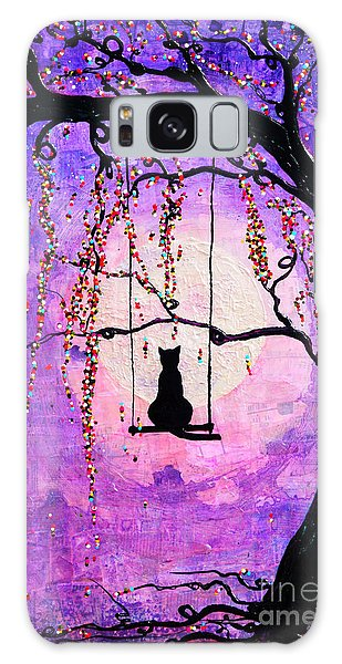 Galaxy Case featuring the mixed media Make A Wish by Natalie Briney