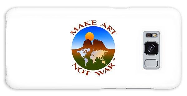 Make Art Not War Logo Galaxy Case