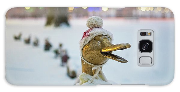 Make Way For Ducklings Winter Hats Boston Public Garden Christmas Galaxy Case