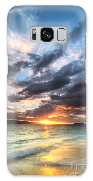 Beach Sunset Galaxy Case - Makena Beach Maui Hawaii Sunset by Dustin K Ryan