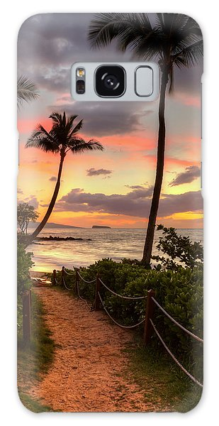 Makena Sunset Path Galaxy Case
