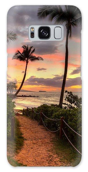 Makena Sunset Path Galaxy Case