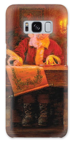 Galaxy Case featuring the painting Making A List by Greg Olsen