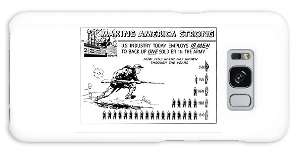 Industry Galaxy Case - Making America Strong Cartoon by War Is Hell Store