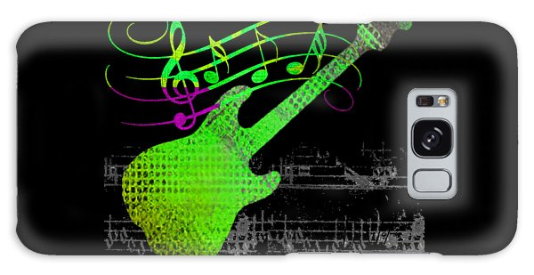 Galaxy Case featuring the digital art Making Music by Guitar Wacky