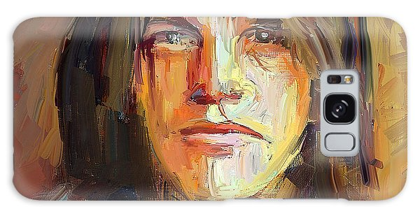 Malcolm Young Acdc Tribute Portrait Galaxy Case