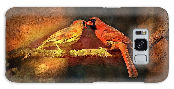 Male And Female Cardinal Galaxy Case