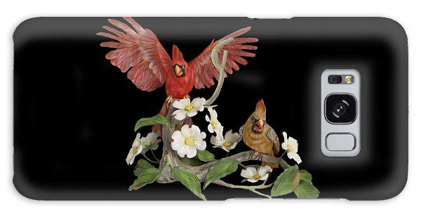 Male And Female Cardinals  Galaxy Case by Walter Colvin