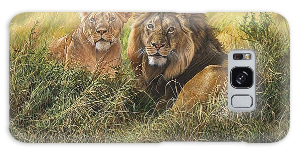 Male And Female Lion Galaxy Case