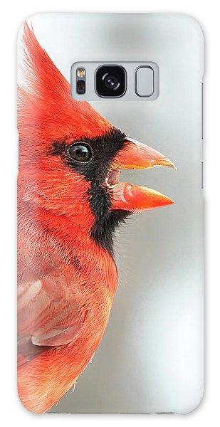 Male Cardinal In Profile Galaxy Case