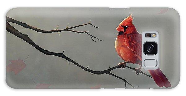 Cardinal Galaxy Case - Male Cardinal by Steve Goad