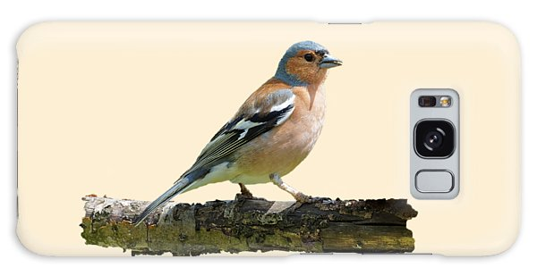 Male Chaffinch, Transparent Background Galaxy Case