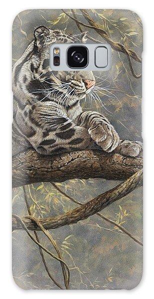 Male Clouded Leopard Galaxy Case