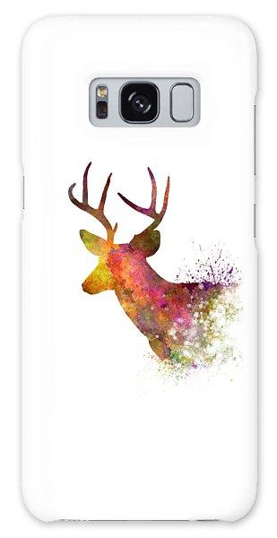 Male Deer 02 In Watercolor Galaxy Case by Pablo Romero