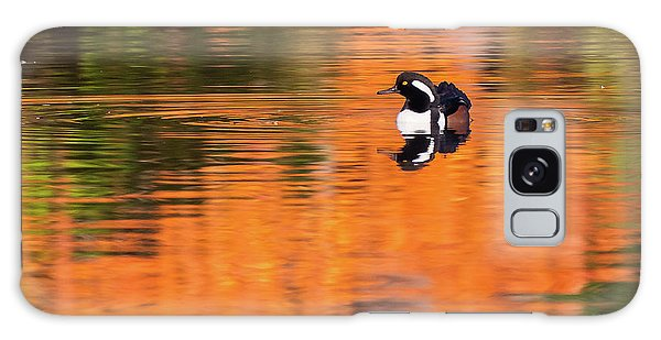 Male Hooded Merganser In Autumn Galaxy Case