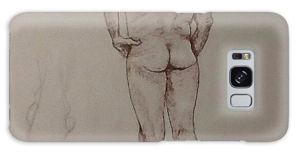 Male Life Drawing Galaxy Case