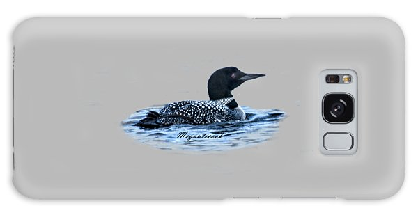 Male Mating Common Loon Galaxy Case by Daniel Hebard