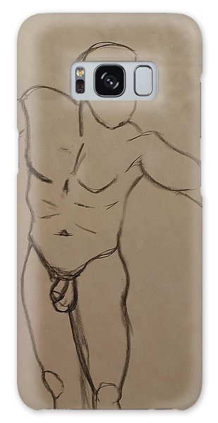 Male Nude Drawing 2 Galaxy Case