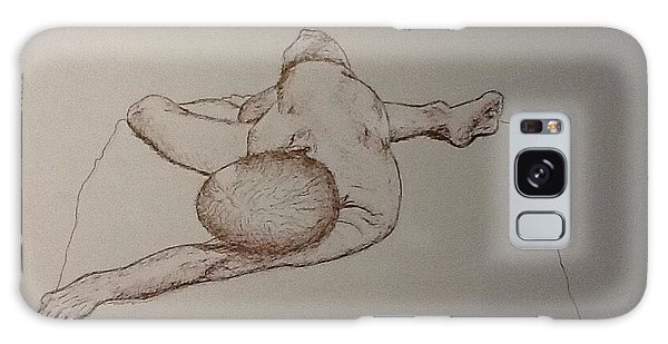 Male Nude Life Drawing Galaxy Case