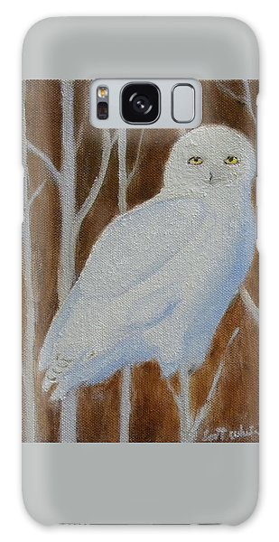 Male Snowy Owl Portrait Galaxy Case
