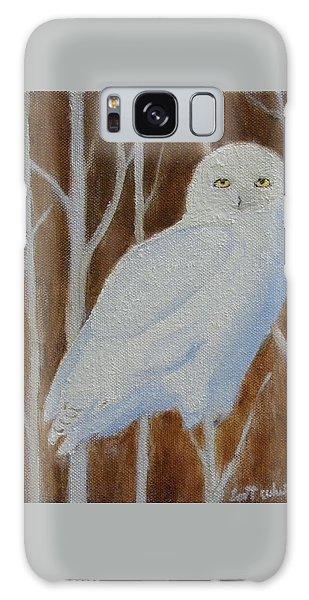 Male Snowy Owl Portrait Galaxy Case