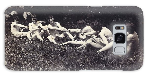 Sitting Nude Galaxy Case - Males Nudes In A Seated Tug-of-war by Thomas Cowperthwait Eakins