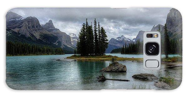 Maligne Lake Spirit Island Jasper National Park Alberta Canada Galaxy Case