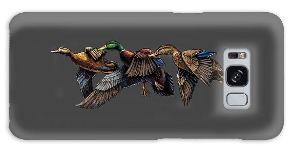 Mallard Ducks In Flight Galaxy Case