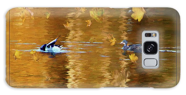 Mallard Ducks On Magnolia Pond - Painted Galaxy Case