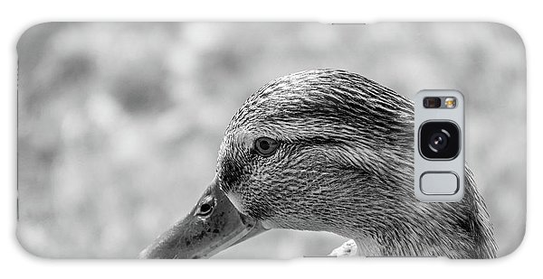 Mallard In Monochrome Galaxy Case