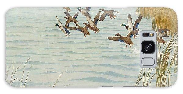 Mallards In Autumn Galaxy Case by Newell Convers Wyeth