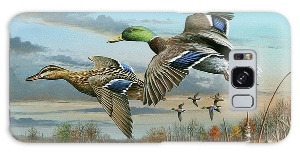 Mallards In Flight Galaxy Case