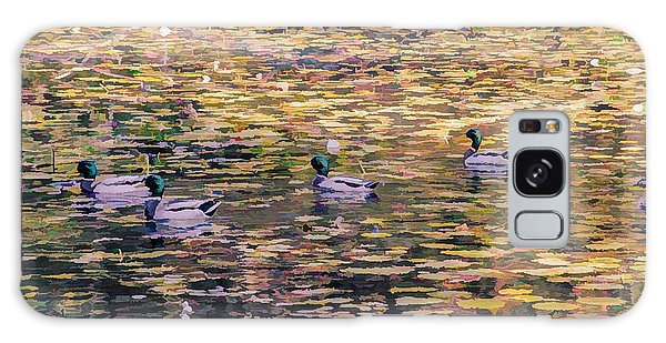 Mallards On Autumn Pond Galaxy Case