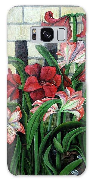Amaryllis Galaxy Case - Mama's Garden by Elaine Hodges