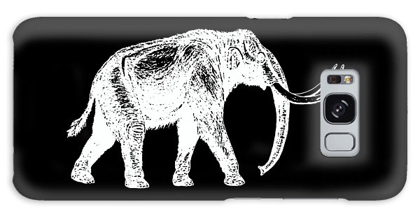 Mammoth White Ink Tee Galaxy Case by Edward Fielding