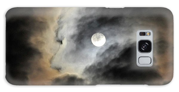 Man And Moon Galaxy Case