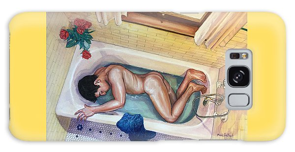Man In Bathtub #3 Galaxy Case