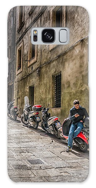 Man On A Scooter Siena-style Galaxy Case