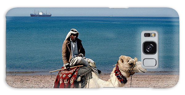 Man With Camel At Red Sea Galaxy Case