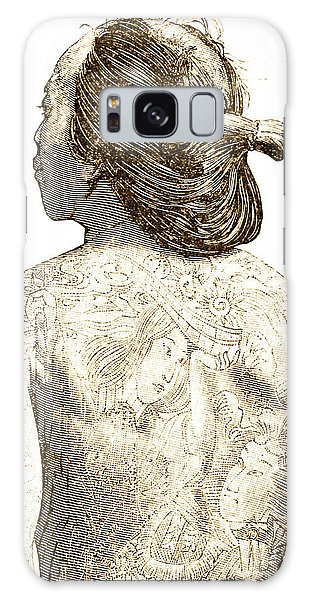 Decorative Galaxy Case - Man With Traditional Japanese Irezumi Tattoos by Japanese School