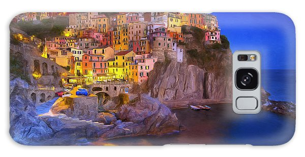 Manarola By Moonlight Galaxy Case
