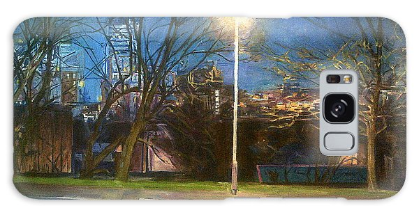 Manchester Street With Light And Trees Galaxy Case