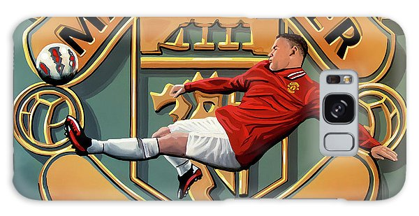 Premier League Galaxy Case - Manchester United Painting by Paul Meijering