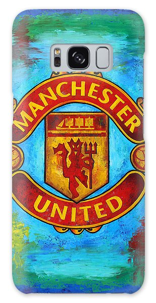 Premier League Galaxy Case - Manchester United Vintage by Dan Haraga