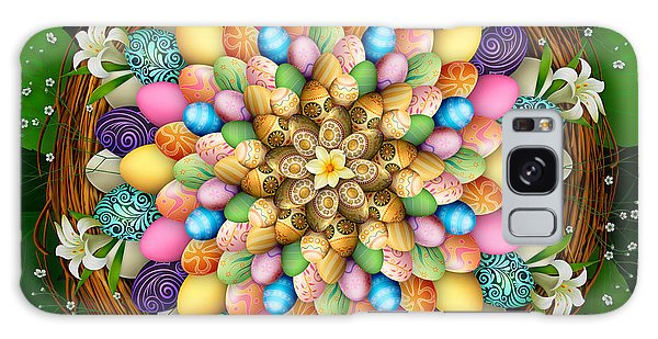 March Galaxy Case - Mandala Easter Eggs by Peter Awax